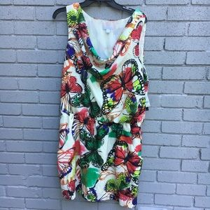 NWT Ny&C butterfly dress large